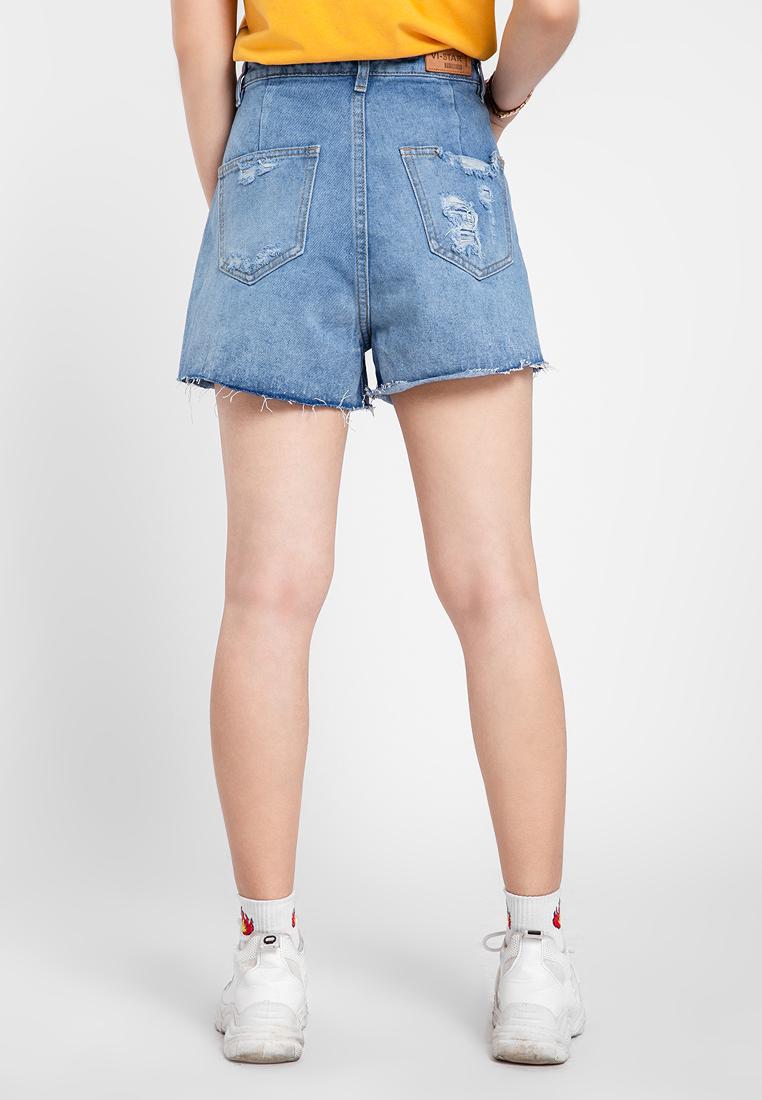 Quần jean nữ short cào rách thời trang JONNY SON HMT00120XS