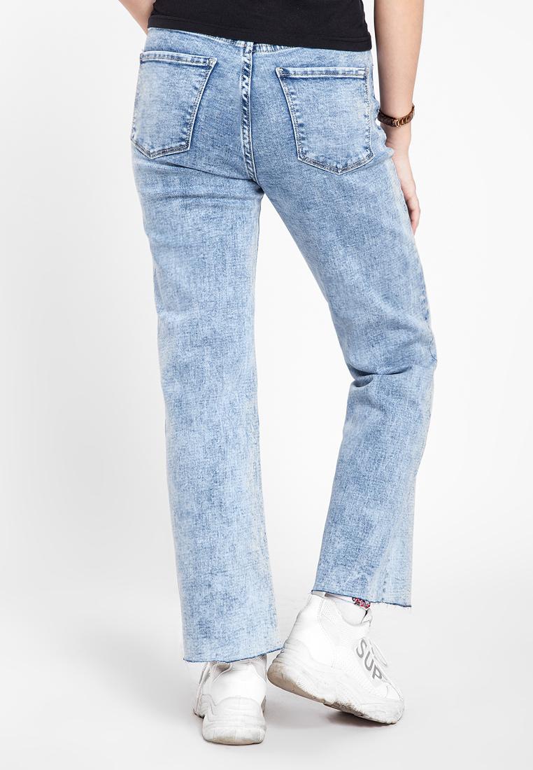 Quần jean nữ dài form rộng thời trang JONNY SON HMT00120XD