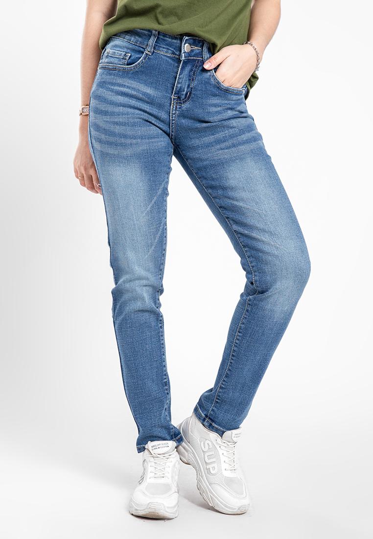 Quần jean nữ dài wash thời trang JONNY SON QXD93YAD014