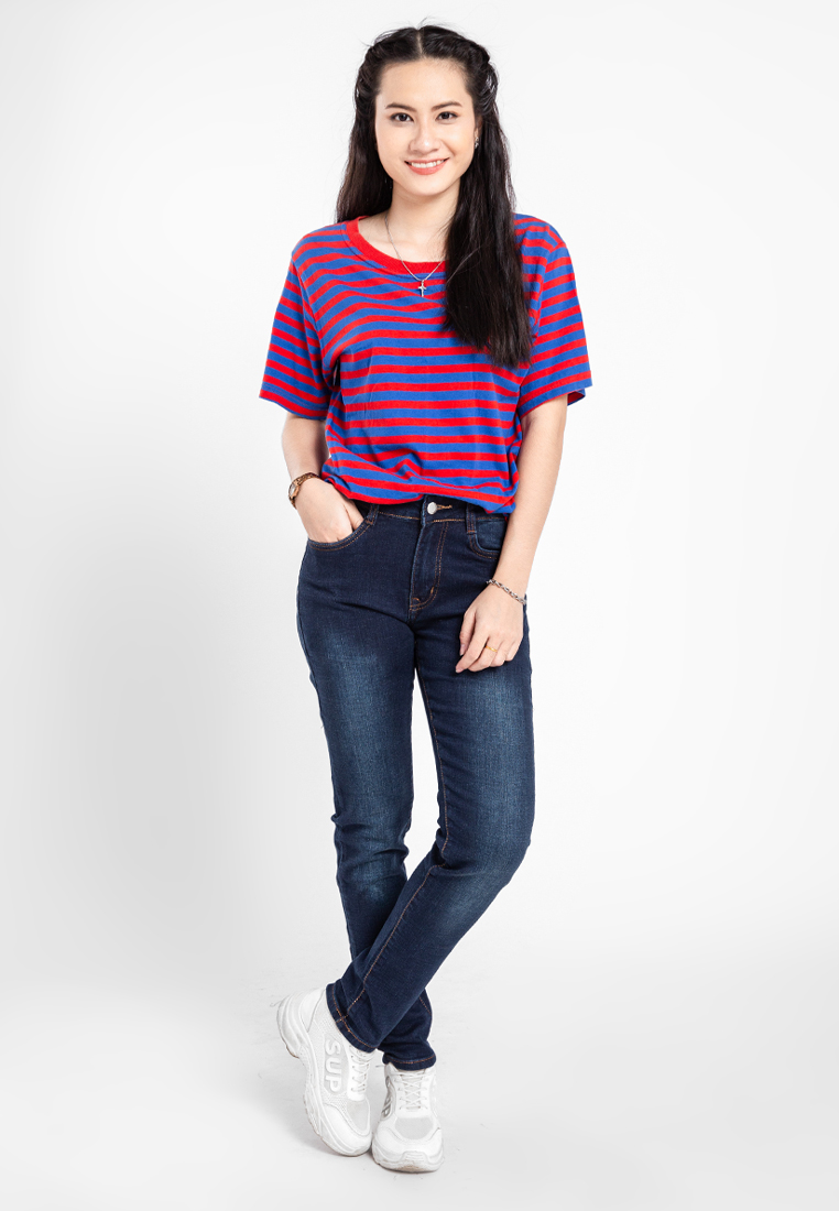 Quần jean nữ dài wash thời trang JONNY SON QXD93YAD029